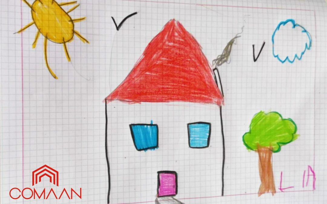 La casa vista con gli occhi dei bambini